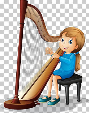 Harp Student Cartoon